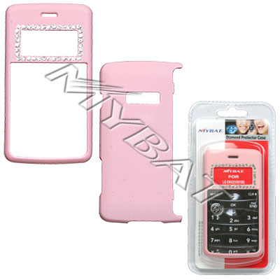 Pink Diamond Protector Cover/Rubberized 014 for LG ENV2