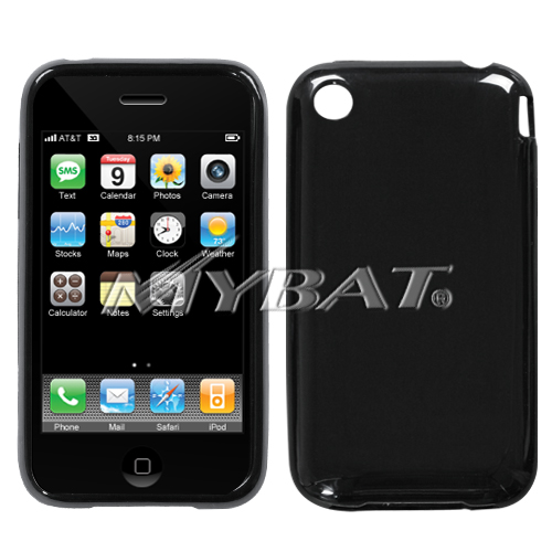 Solid Black Candy Skin Cover for APPLE iPhone 3GS/3G