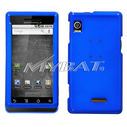 Solid Dark Blue Phone Protector Cover for MOTOROLA A855