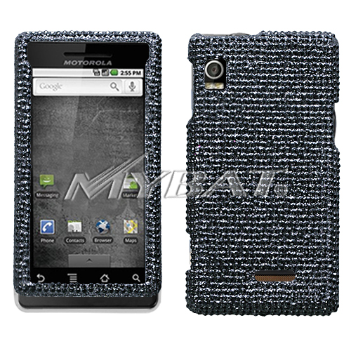 Black Diamante Protector Cover for MOTOROLA A855 Droid