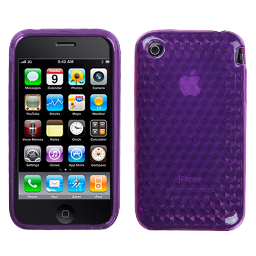 Purple Cube Candy Skin Cover for APPLE iPhone 3GS/3G