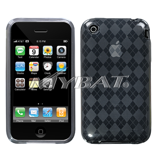 Smoke Argyle Candy Skin Cover for APPLE iPhone 3GS/3G