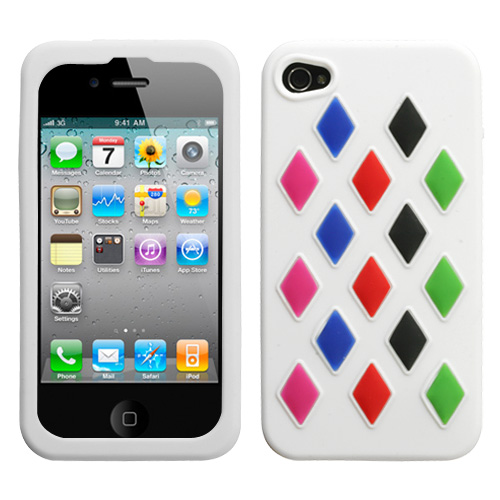 White Module Skin Cover for APPLE iPhone 4S/4