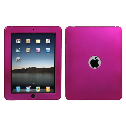 Titanium Solid Hot Pink Protector Cover for APPLE iPad