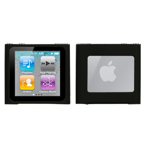 Solid Skin Cover Black for APPLE iPod nano 6th generati