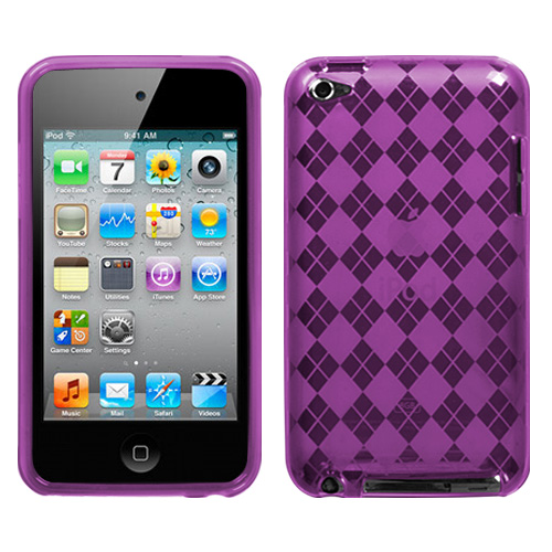 APPLE iPod touch 4th generation Purple Argyle Candy Ski