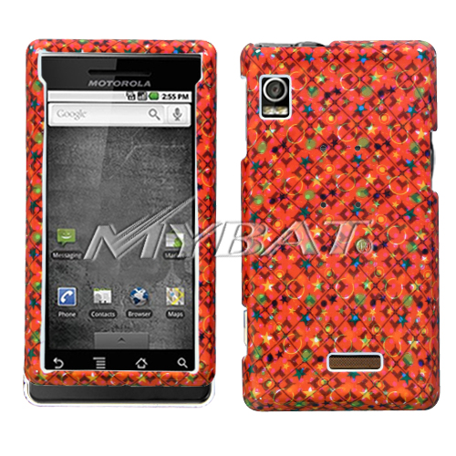 Red Galaxy Phone Protector Cover for MOTOROLA A855 Droi