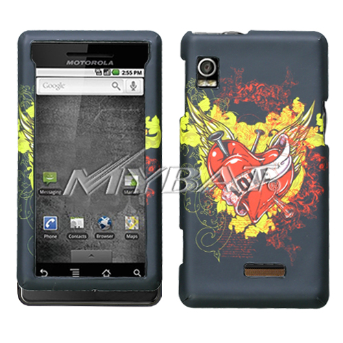 Love Tattoo Clazzy Protector Cover for MOTOROLA A855 Dr