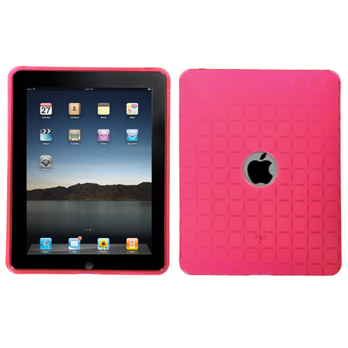 T-Pink Hexagon Grid Candy Skin Cover for APPLE iPad