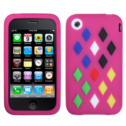Hot Pink Module Skin Cover for APPLE iPhone 3GS/3G