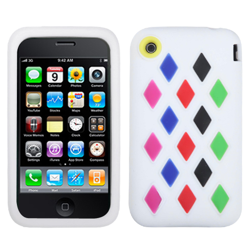White Module Skin Cover for APPLE iPhone 3GS/3G