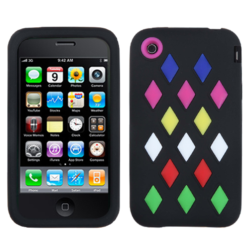 Black Module Skin Cover for APPLE iPhone 3GS/3G