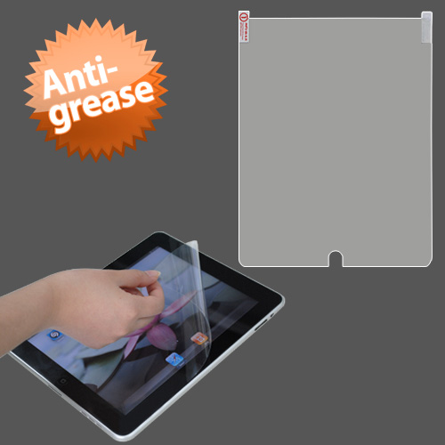 Anti-grease LCD Screen Protector/Clear for APPLE: iPad