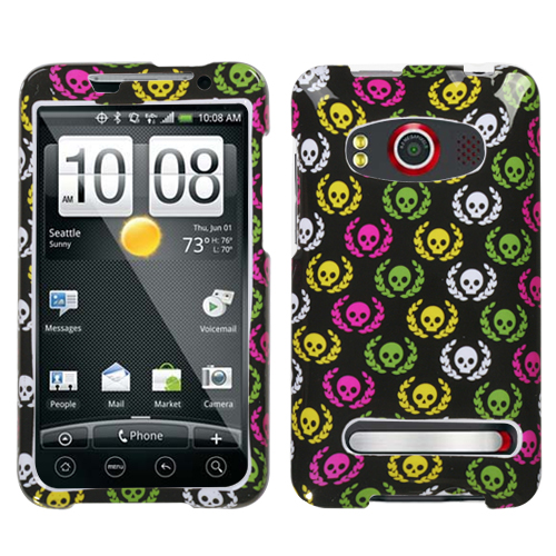 Cute Skulls Phone Protector Cover for HTC EVO 4G
