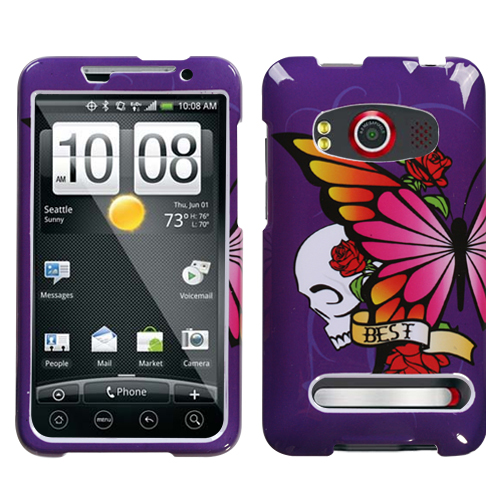 Best Friend Purple Phone Protector Cover for HTC EVO 4G