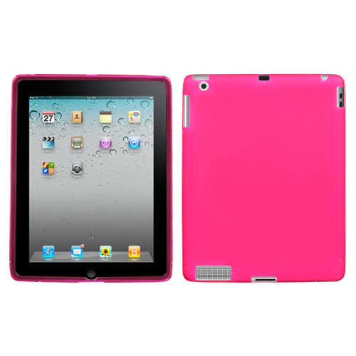 Pink S Shape Candy Skin Cover for APPLE iPad 2