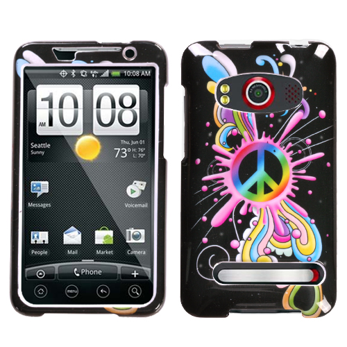 Peace Pop Phone Protector Cover for HTC EVO 4G