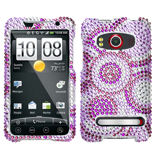 Wheel Diamante Phone Protector Cover for HTC EVO 4G