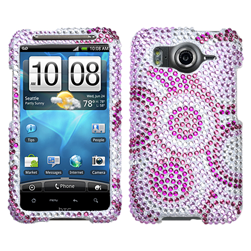 Wheel Diamante Phone Protector Cover for HTC Inspire 4G