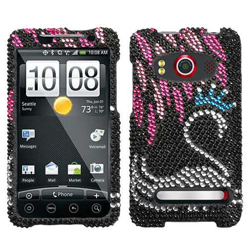 Swan Diamante Phone Protector Cover for HTC EVO 4G