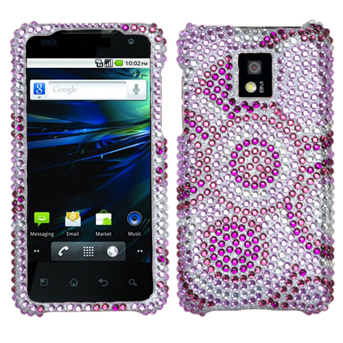 Wheel Diamante Phone Protector Cover for LG P999 G2X