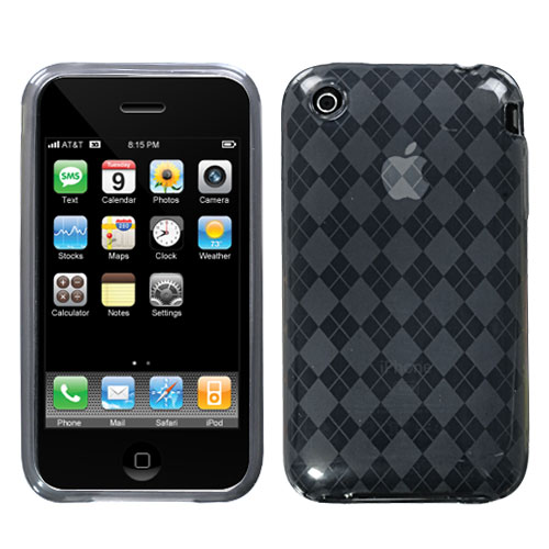 Argyle Candy Skin Cover for APPLE iPhone 3GS/3G Smoke