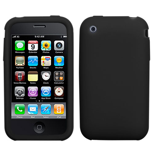 Solid Skin Cover for APPLE iPhone 3GS/3G -Black