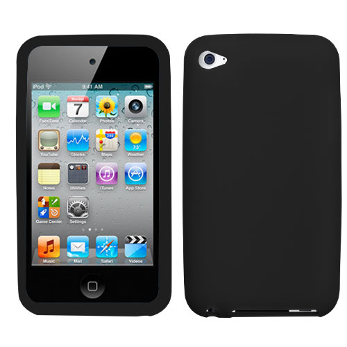 Solid Skin Cover for APPLE iPod touch 4th generation Bl