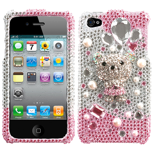Princess Bear Premium 3D Diamante Protector Cover for A