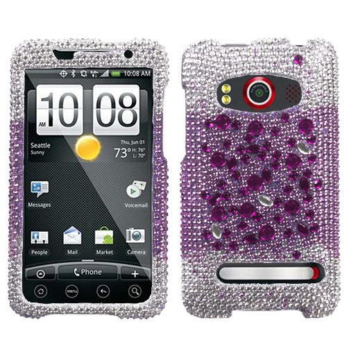 Universe Diamante Phone Protector Cover for HTC EVO 4G