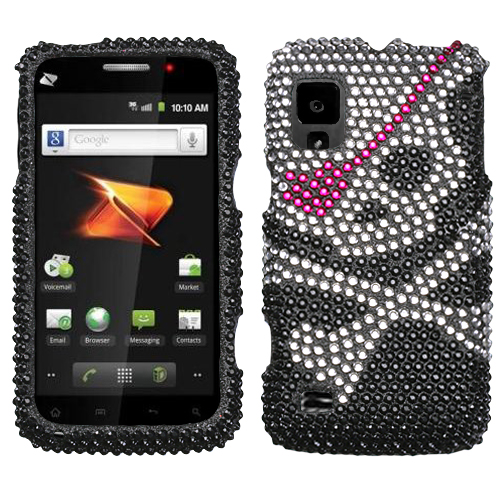 Skull Diamante Protector Cover for ZTE N860 Warp