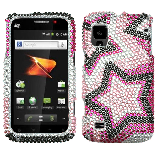 Twin Stars Diamante Protector Cover for ZTE N860 Warp