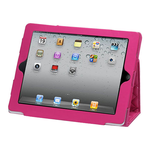 Luxury Hot Pink Quilted MyJacket 145 for APPLE iPad 2