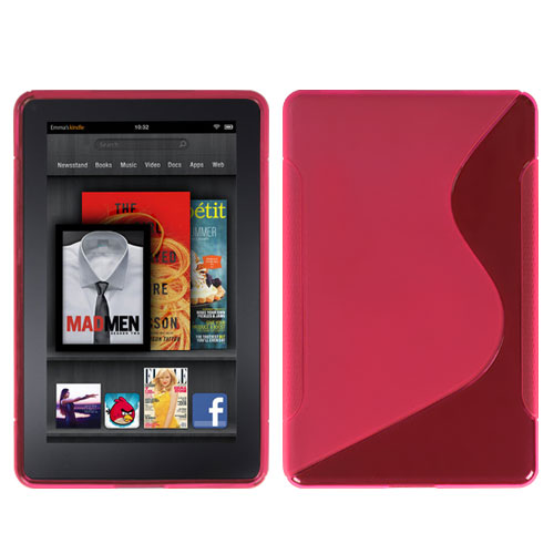 Hot Pink S Shape Candy Skin Cover for KINDLE fire