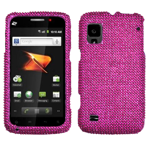 Hot Pink Diamante Protector Cover for ZTE N860 Warp