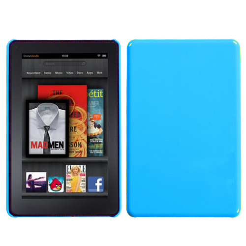 Natural Turquoise Back Protector Cover for KINDLE fire