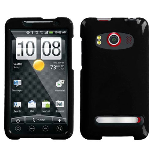 Natural Black Phone Protector Cover for HTC EVO 4G