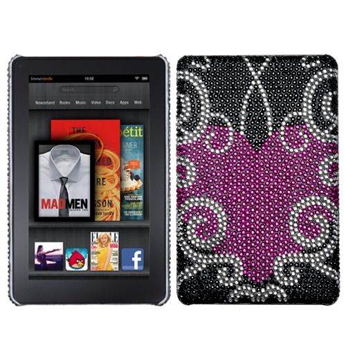 Trapped Heart Diamante Back Protector Cover for KINDLE