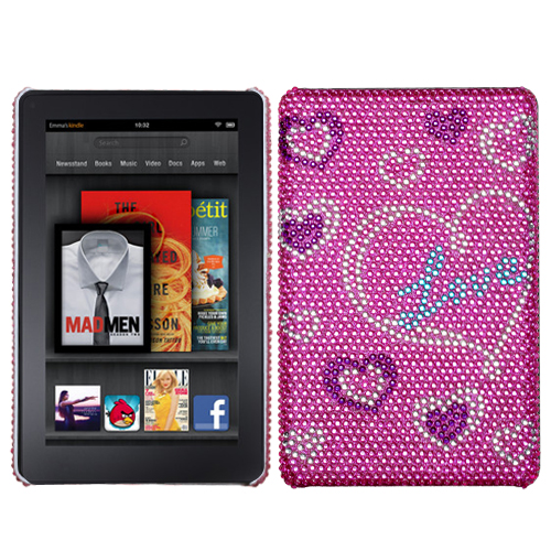 Loving You/New Diamante Back Protector Cover for KINDLE