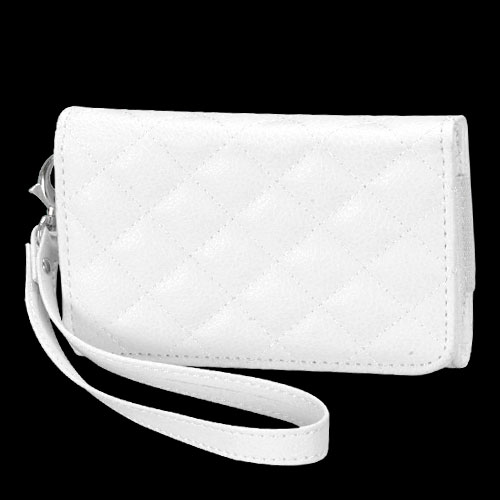 Premium White Quilted Wallet 302 for APPLE iPhone 4S/4