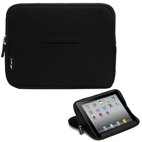 Black MySleeve Bubble 504 for APPLE iPad 2