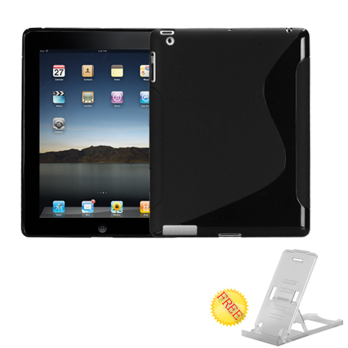 Black S Shape Candy Skin Cover for APPLE The new iPad