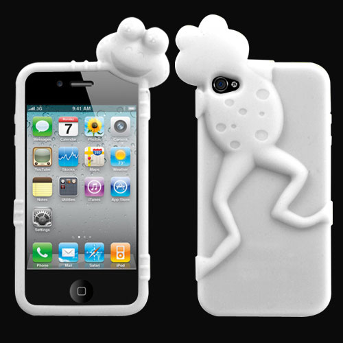 White Frog Peeking Pets Skin Cover for APPLE iPhone 4S