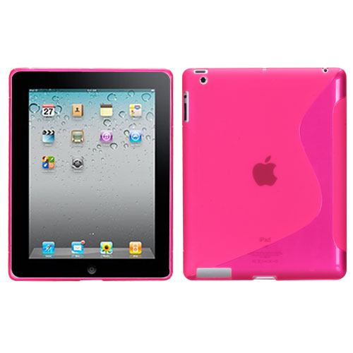 Pink S Shape Candy Skin Cover for APPLE The new iPad