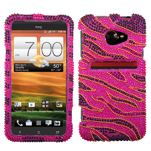 Rocker Diamante Phone Protector Cover for HTC: EVO 4G L
