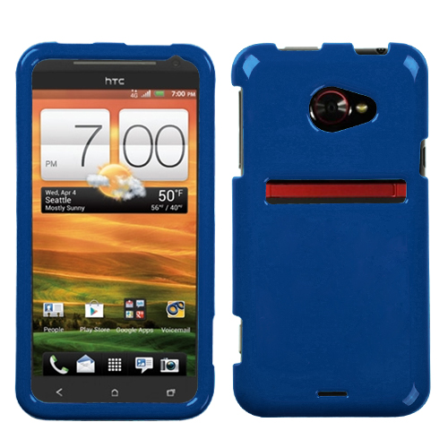 Solid Dark Blue Phone Protector Cover for HTC: EVO 4G L