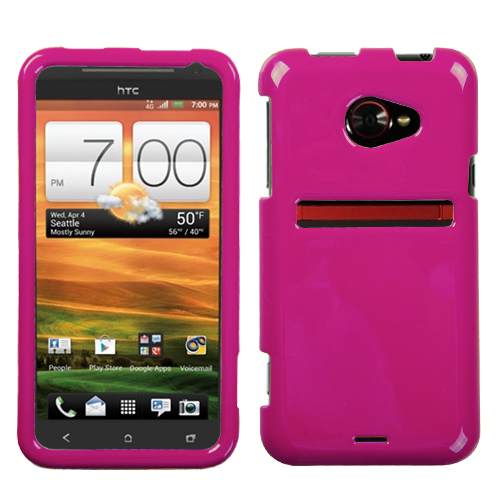 Solid Hot Pink Phone Protector Cover for HTC: EVO 4G LT