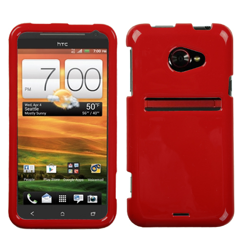 Solid Flaming Red Phone Protector Cover for HTC: EVO 4G