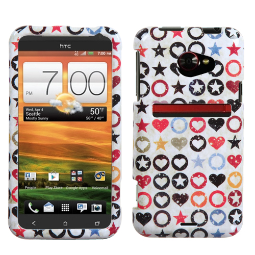 Vintage Punk Phone Protector Cover for HTC: EVO 4G LTE