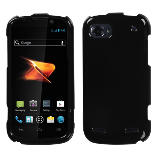 Solid Black Phone Protector Cover for ZTE: N861 (Warp S